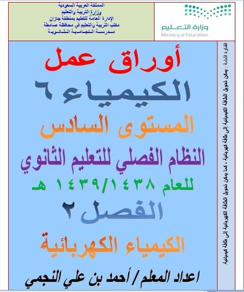 word قابل لتعديل اوراق الكيمياء